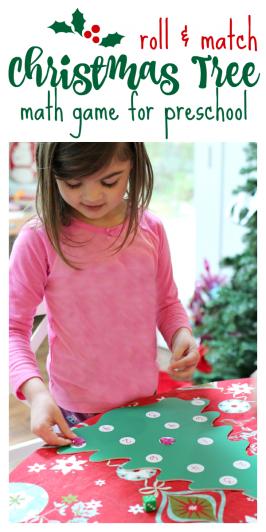 Christmas Tree Math Game For Preschool