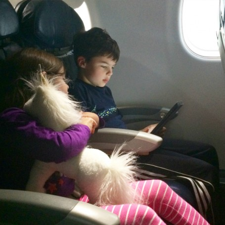 reading on the airplane