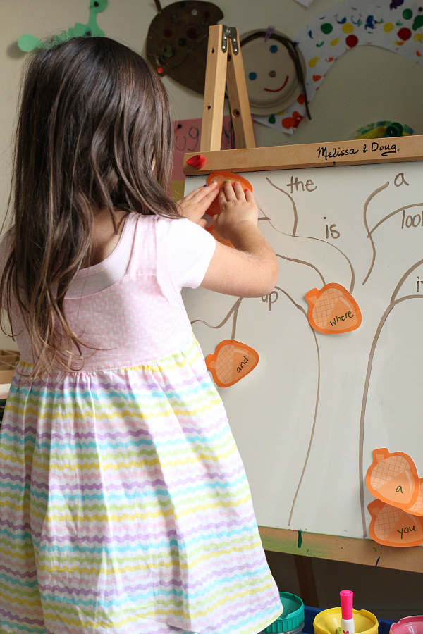 sight word easel activity for kindergarten