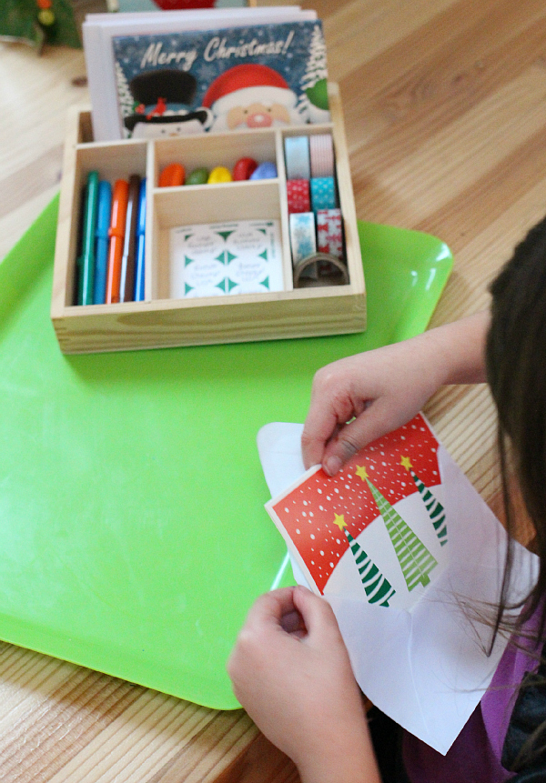 Holiday Card Writing Center For Kindergarten