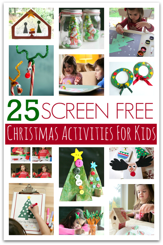 25 screen free christmas activities for kids no time for for Free christmas crafts for kids