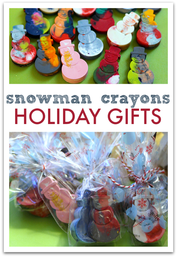 Diy snowman crayons great class holiday gifts no time for flash do it yourself stocking stuffers recycled crayons solutioingenieria Image collections