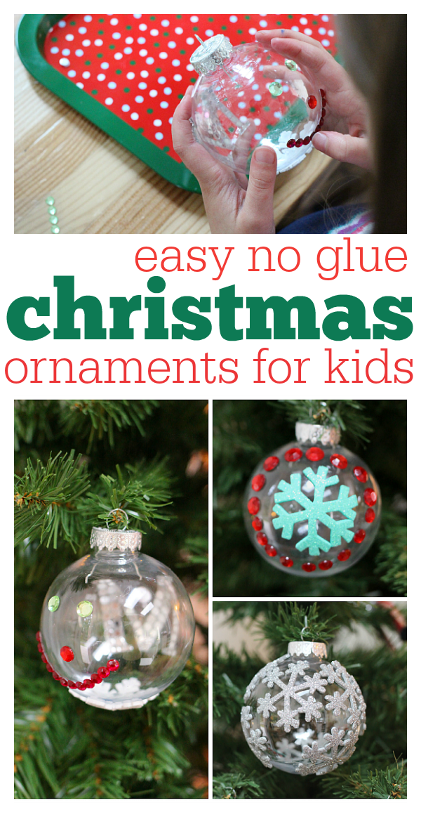 Easy NO glue christmas ornaments - No Time For Flash Cards