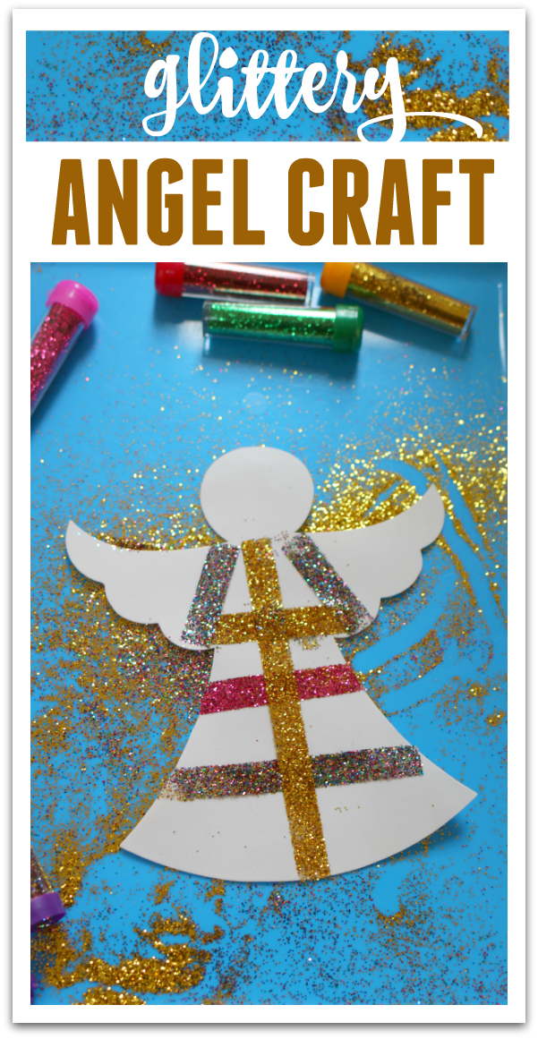 Glittery Angel Easy Christmas Craft