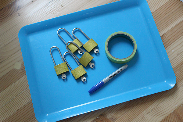 lock and key rhyming activity for kindergarten