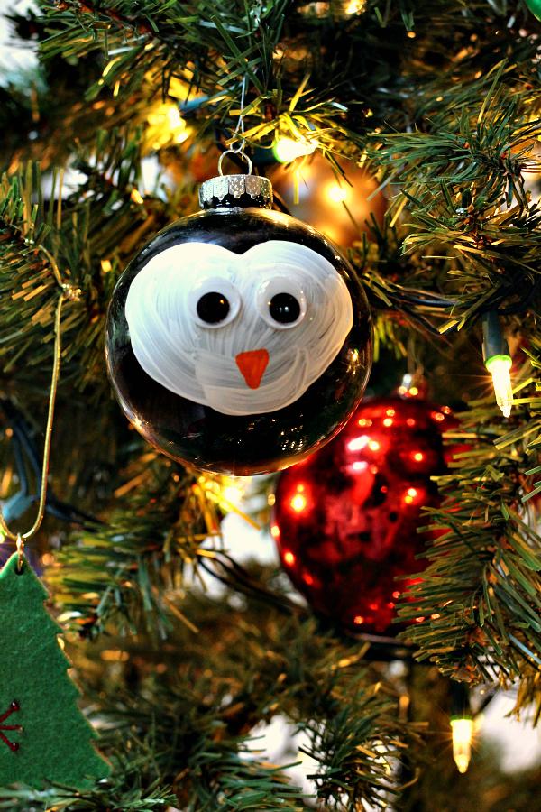 easy ornament penguin craft for kids