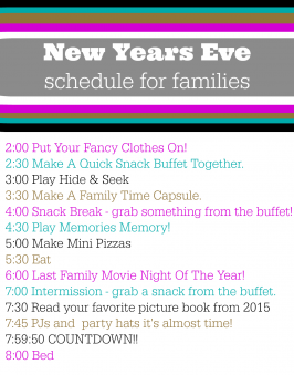 New Years Eve Schedule – Free Printable