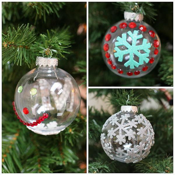 easy no glue homemade christmas ornaments