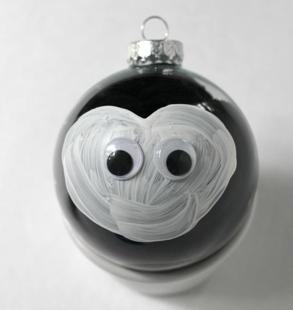 penguin christmas ornament for kids