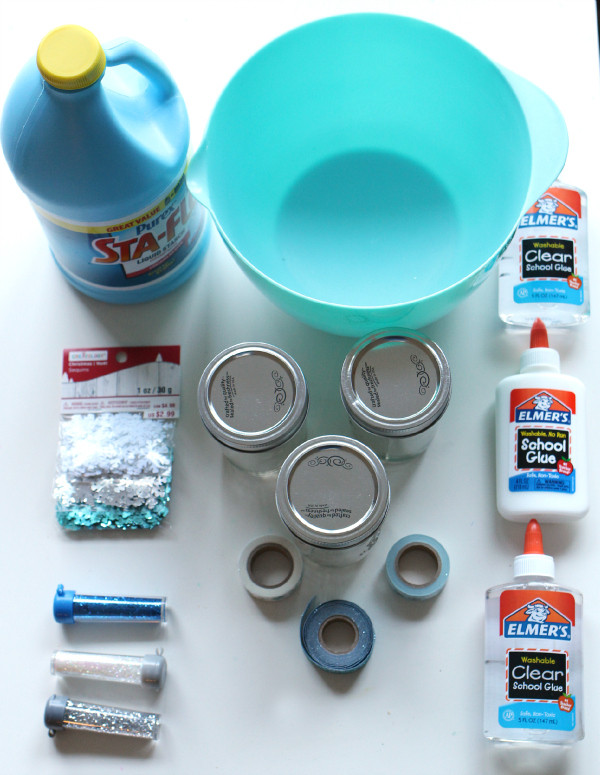 Snow Slime In A Jar - Homemade Gifts For Kids - No Time