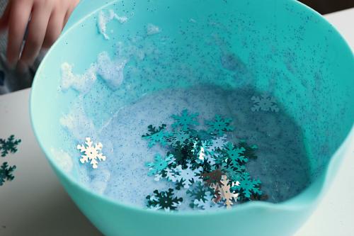 snowflake slime for kids