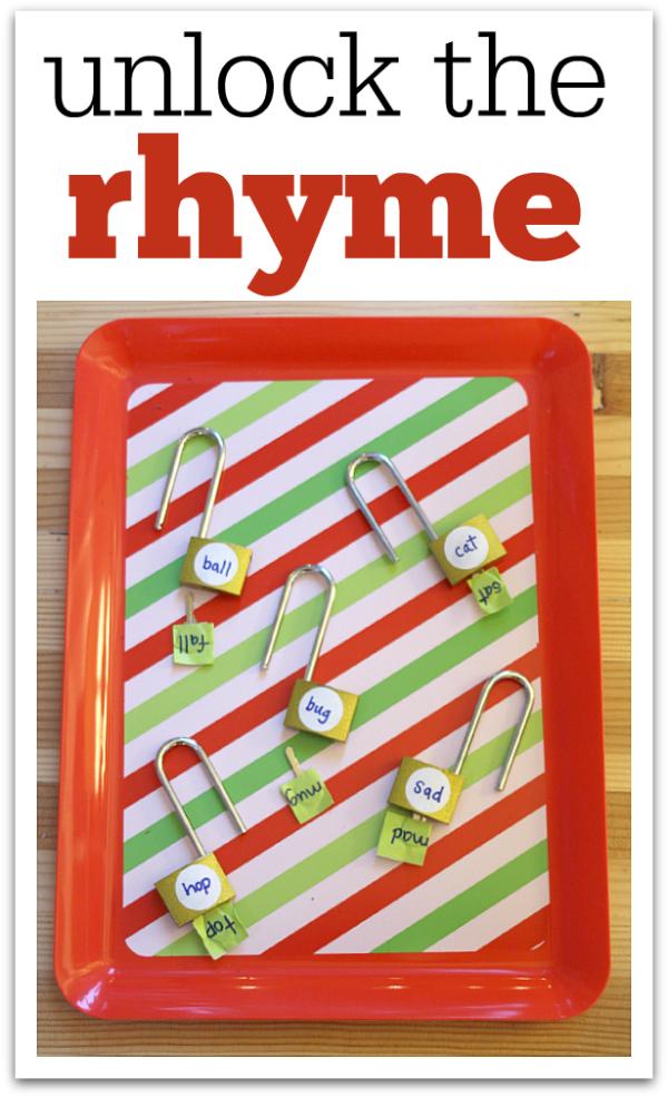 unlock the rhyme literacy center ideas
