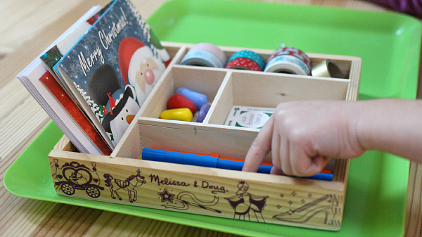 writing center for children holiday cards