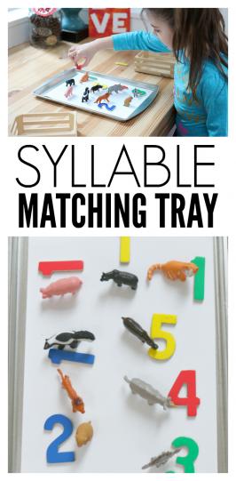Syllable Matching Tray – Kindergarten Reading Activity
