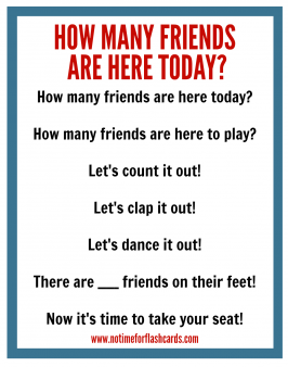 Circle Time Chant – Free Printable