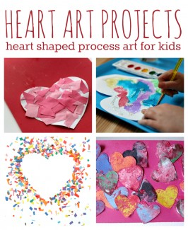 heart art projects for kids valentine's day