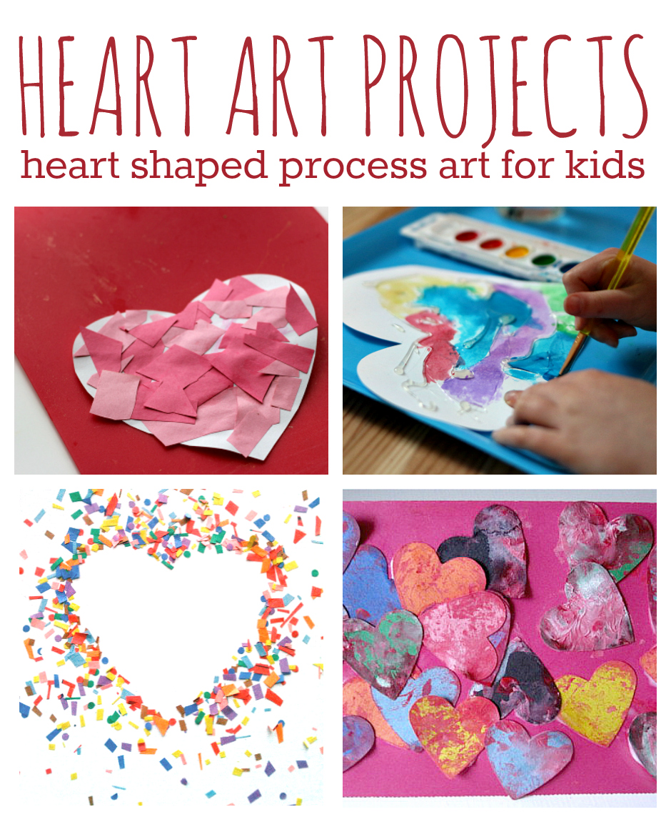 11 heart art projects for kids no time for flash cards for Valentine craft projects kids