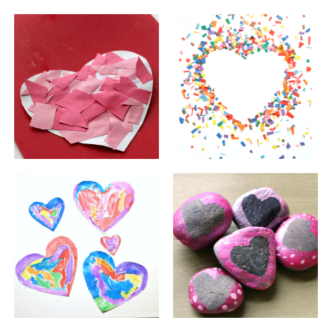 11 Heart Art Projects For Kids No Time For Flash Cards