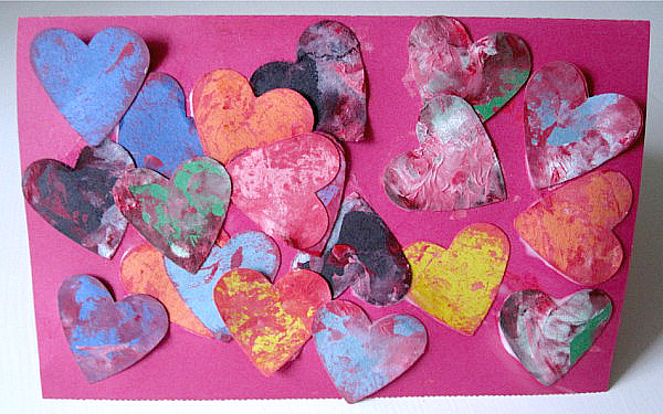shake painted hearts