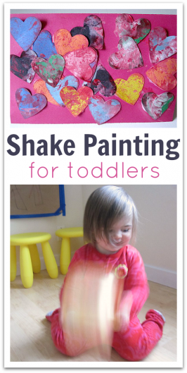 Shake Painting – Easy Valentine's Day Project