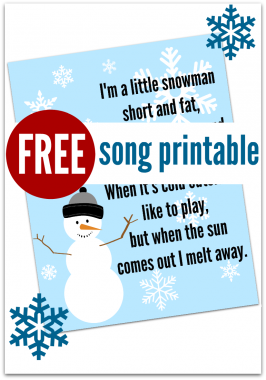 Snowman Song – FREE Printable