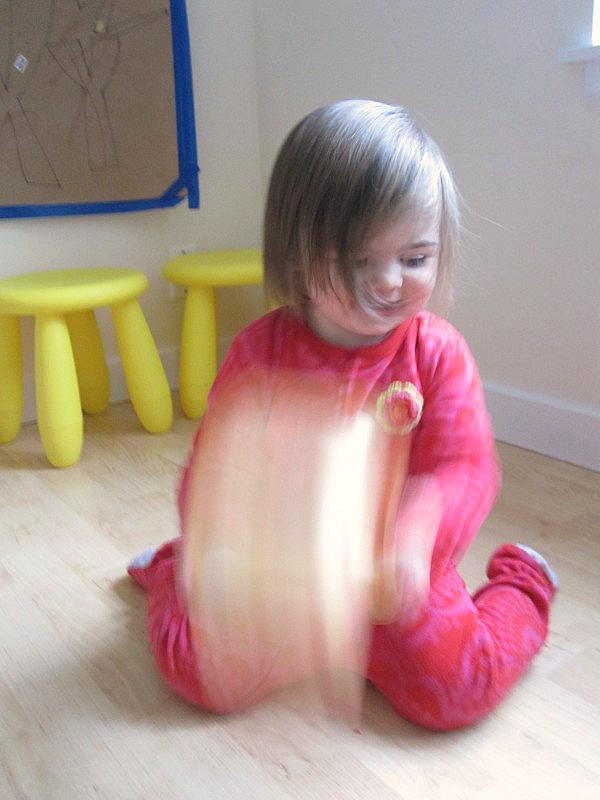 toddler shake painted art