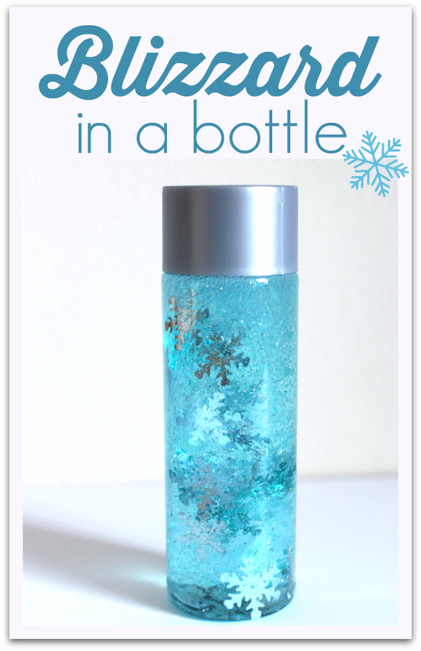 Blizzard In A Bottle Simple Winter Sensory Bottle No Time For