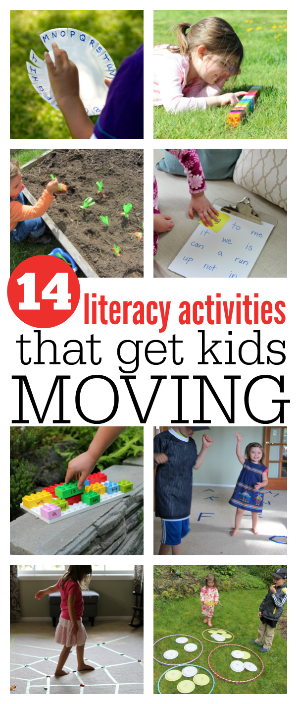 14 Literacy Activities That Get Kids Moving No Time For