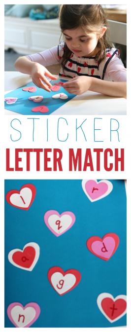 Sticker Letter Match