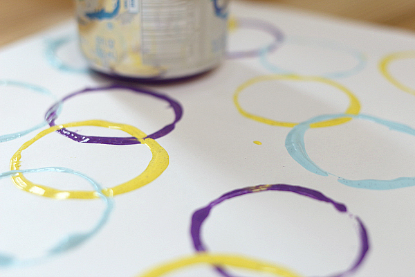 easy art project for kids circle prints pop can painting
