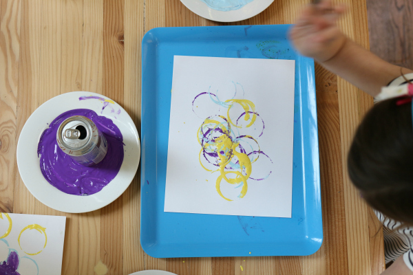 earth day art project pop can prints