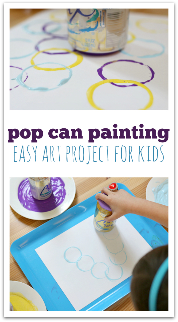 Pop can prints easy art project for kids no time for Fun painting ideas for toddlers