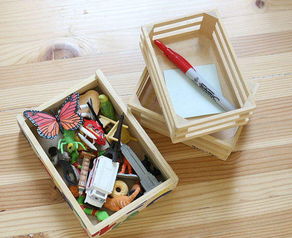 science sorting tray for preschool
