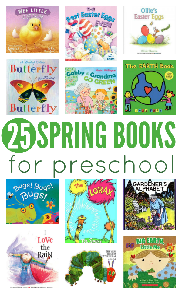 25 spring books for preschool   no time for flash cards