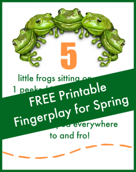 5 Little Frogs Fingerplay & Free Printable