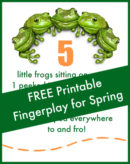 5 little frogs fingerplay
