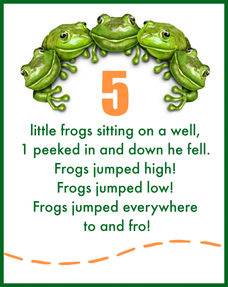 5 little frogs free printable