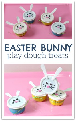 EASTER BUNNY PLAY DOUGH TREATS FOR KIDS NO TIME FOR FLASH CARDS
