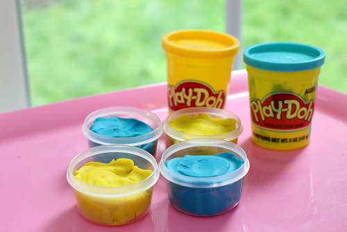 playdough easter treats for easter baskets and class gifts