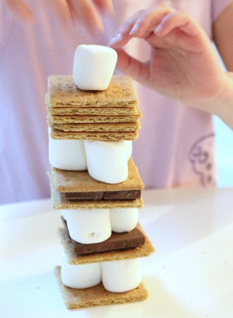 s'mores tower for kids