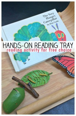 Hands-On Reading Tray: The Very Hungry Caterpillar Activity