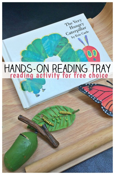 Reading tray with the very hungry caterpillar