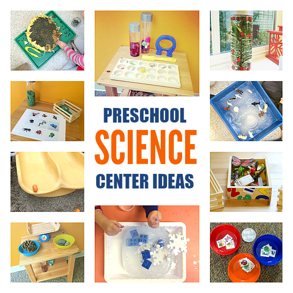 PRESCHOOL SCIENCE CENTER IDEAS FROM NO TIME FOR FLASH CARDS