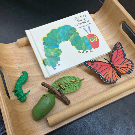 hands on reading tray the very hungry caterpillar