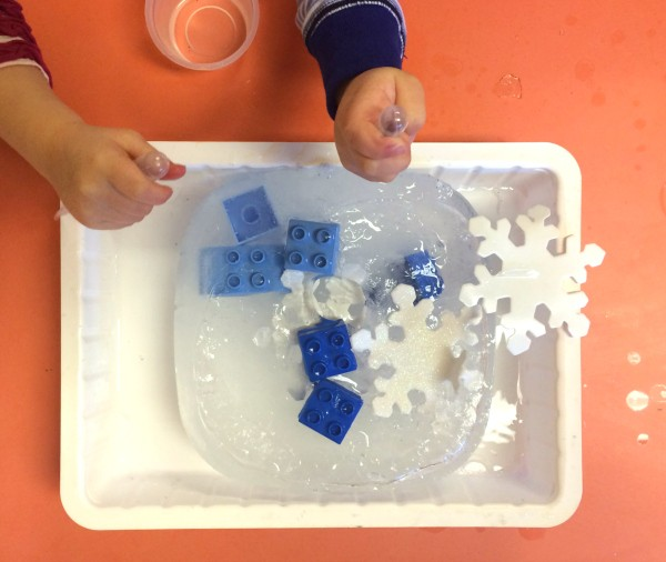 preschool science ice melting