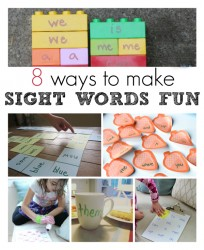 Fun ways to learn sight words