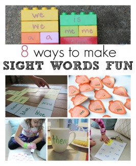 8 Ways to Make Sight Words Fun
