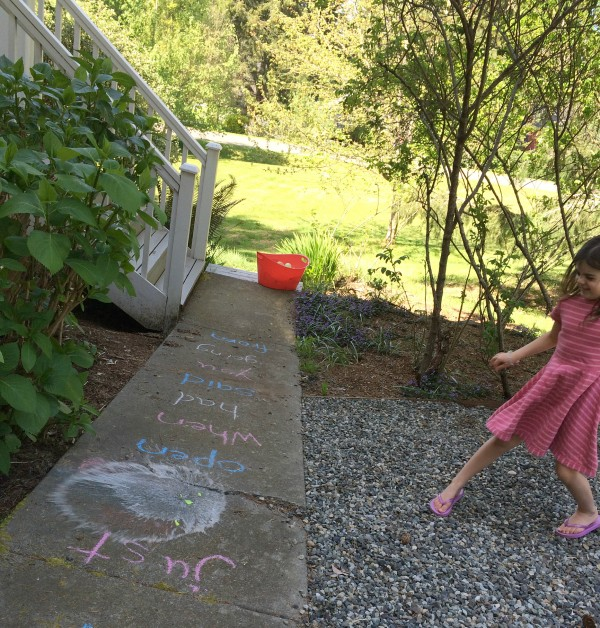 sight words and water balloons