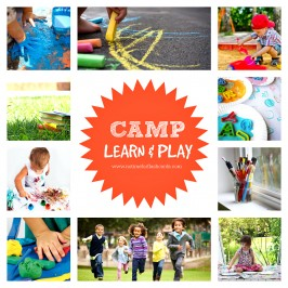 FREE SUMMER Camp DIY summer camp at home for kids no time for flash cards
