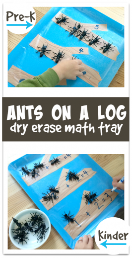 Ants On A Log Math Tray